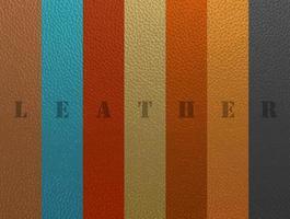 textura de couro antigo colorido vintage vetor