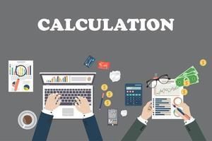 conceito de design de cálculo vetor