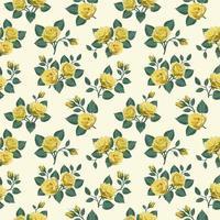 padrão sem emenda com rosas amarelas vetor