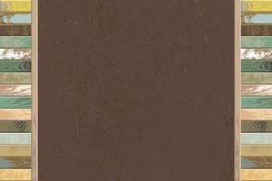 quadro-negro com moldura de madeira vetor
