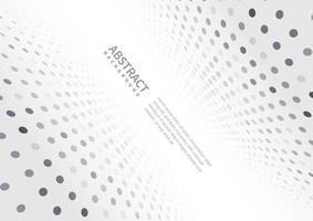 fundo abstrato de perspectiva de pontos de gradiente branco e cinza vetor