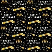 padrão perfeito de véspera de ano novo com confete e criadores de ruído