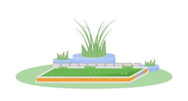 cena plana de jardim vetor