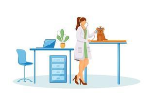 personagem médico veterinário vetor