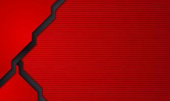 fundo abstrato em camadas vermelho e preto vetor