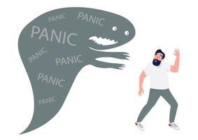 homem com ataque de pânico vetor