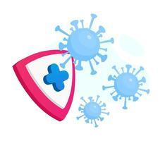 escudo de proteção contra coronavírus vetor