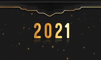 Banner de fundo de feliz ano novo de 2021