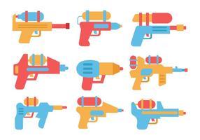 vetor de ícones de armas de água grátis