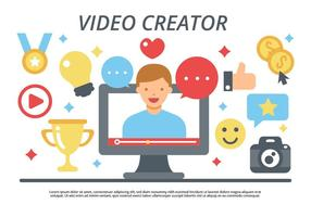 livre criador de vídeo / video blogging vector