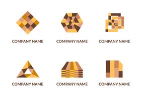 Vector de logotipo laminado abstrato