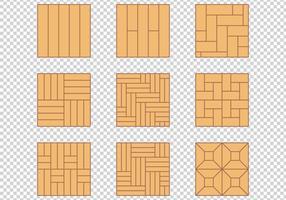 Conjunto de design de material de padrão de piso de madeira
