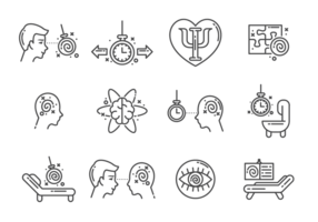Vector de ícones de hipnose