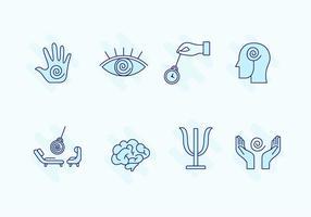 Conjunto de ícones de hipnose vetor