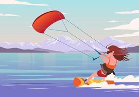 Vetor de Kitesurfer
