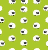 padrão de ovelhinhas pretas fofas sem costura vetor