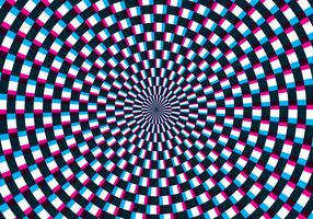 Ilusão óptica de hipnose vetor