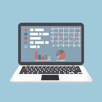 conceito de laptop de e-learning vetor