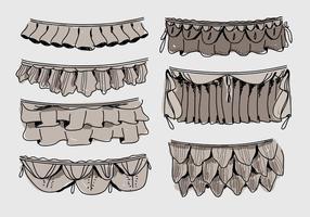 Frills Hand Drawn Ilustração vetorial vetor