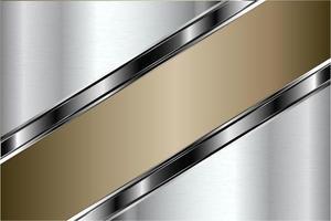 fundo metálico moderno ouro e prata vetor