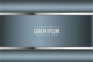 fundo metálico moderno azul e prata vetor