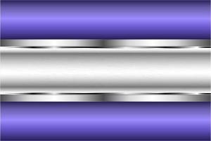 fundo metálico violeta e prata moderno vetor