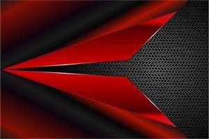 fundo metálico vermelho e preto moderno vetor