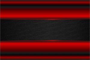 fundo moderno vermelho e carbono metálico vetor