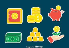 vetor de elementos de economia de dinheiro