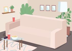 sofá para lazer em família vetor