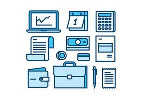 Conjunto de ícones de linha de folha de pagamento Free Vector