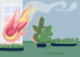 casa em chamas vetor