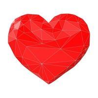 coração feito de triângulos vetor