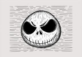Ilustração desenhada mão mão do Dia das Bruxas vetor