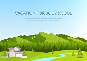 banner de férias para corpo e alma