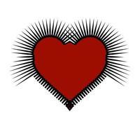 arte vermelha e preta do coração gótico espinhoso.
