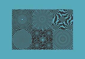 Vetores do motivo da hipnose