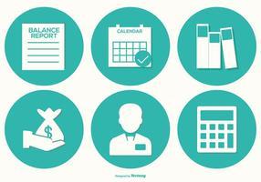 Coleção de ícones do vetor de contabilidade