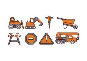 Ícones do vetor de construção