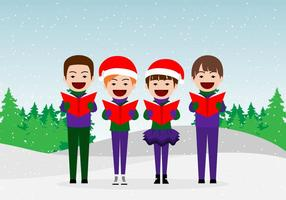 Carolers Girls and Boys