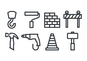 Ícones de construção vetor