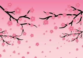 Plum blossom vector background