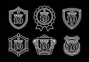 Top 10 ícones vetoriais vetor