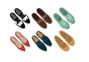 Modelos de sapatos Vector grátis