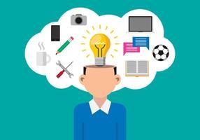 Ilustração do conceito de negócio do conceito de idéia