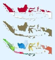 design plano infográfico de mapa da indonésia vetor
