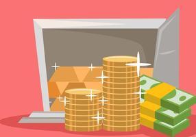 dinheiro forte e economizador de ouro vetor