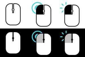 conjunto de ícone de clique do mouse vetor