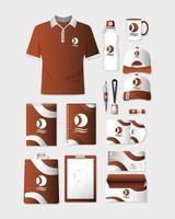 conjunto de maquete de branding e marketing vetor