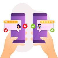 feedback e revisão do projeto para a satisfação do cliente vetor